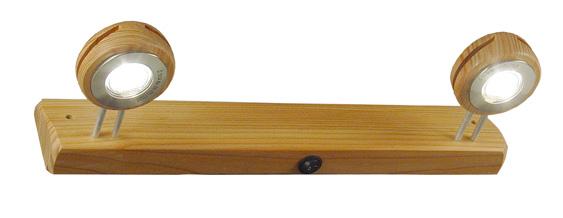Appliques pour salle de bain en bois